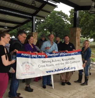 Mustang SUD Attends Chamber of Commerce Ribbon Cutting for Town of Crossroads